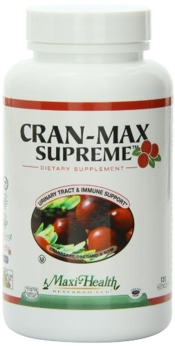 Maxi Health CranMax Supreme Urinary Tract and Immune Boost Capsules, 120 Count by Maxi-Health