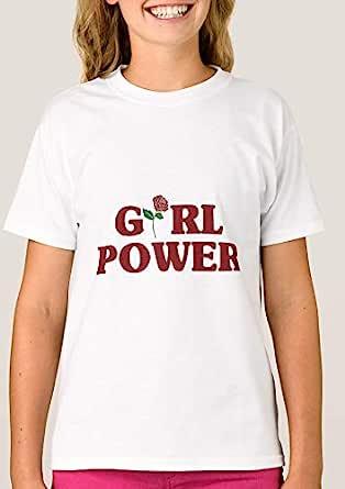 T-Shirt with design for girls - Girl Power Rose