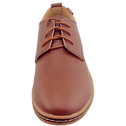 Dadawen Multicolore De Ville b Homme Pour Chaussures Lacets À 61173 Brown rrq8WOan7