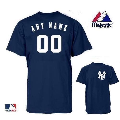 New York Yankees MLB Officially Licensed 100% Cotton Crewneck (Name & Number on Back) Adult Small