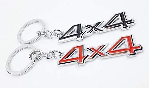 Creative 4X4 Metal Keychain Personality car Keychain red