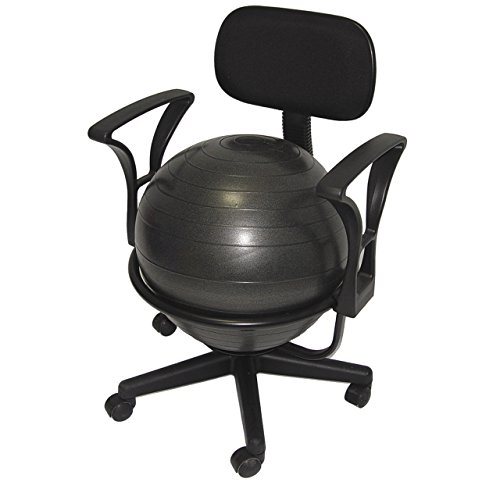 - Deluxe Fitness Ball Chair in Black