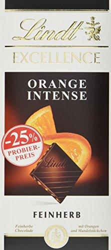 Excellence Orange Intense, Promotion, feinherbe Schokolade mit Orangen- und Mandelstückchen (1 x 100 g)