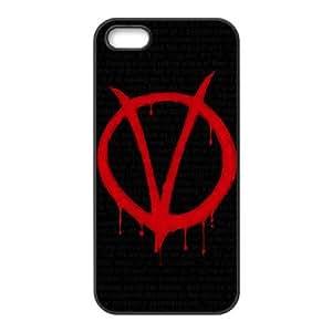 C-EUR Diy V for Vendetta Hard Back Case for Iphone 5 5g 5s