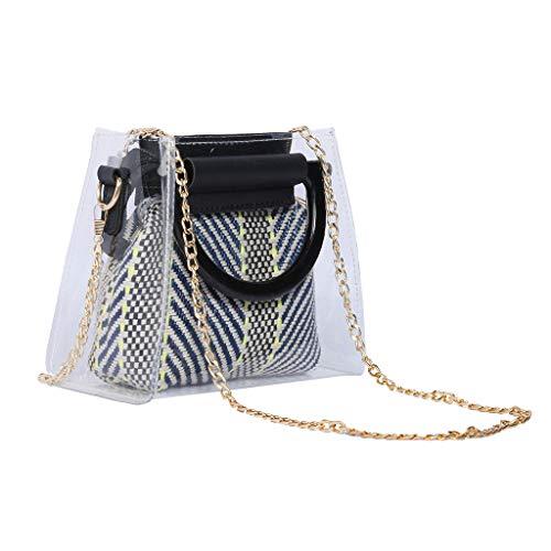 Lefthigh Transparent Acrylic Bracelet PVC Shoulder Bag Handbag Diagonal Women's Gifts
