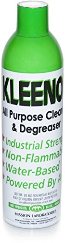 Kleenol, All-Purpose Cleaner & Degreaser Aerosol Spray - water-based, powered by air & non-flammable - easy multi surface cleaner (environmentally conscious)- 16oz (1 Pack)