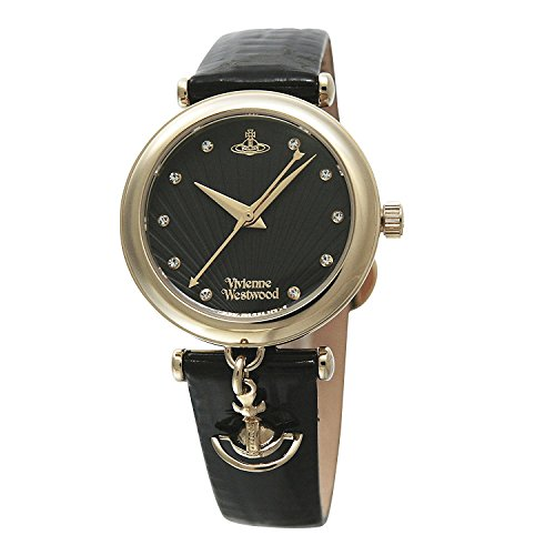 Vivienne Westwood watch TRAFALGAR black dial black leather Quartz VV108BKBK Ladies