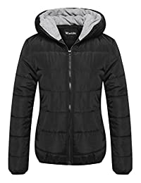 Wantdo Women's Winter Coat Quilted Warm Hooded Puffer Jacket