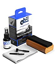 Audiophile Record Cleaning Kit 5 in - 1| A Must-Have Set for Any LP Vinyl Enthusiast - Includes: Disc Cleaner Fluid, Discwasher Velvet Brush, Stylus Brush and Microfibre Cloth