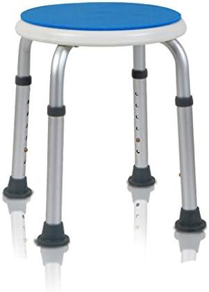 Cqq Badestuhl Leichter höhenverstellbarer Duschhocker - Geeignet für ältere Menschen, Schwangere Frauen, Behinderte