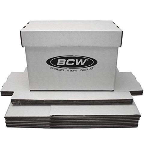 BCW Short Comic White Storage Box | Holds 150-175 Comics| 200 lb. Test Strength | (10-Pack)  from BCW