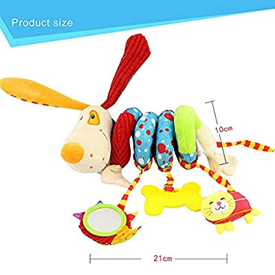 MAJINCGJ Newborn Baby Toy Baby Toy Bed Hanging Plush Fabric Rattle Toy Animal Car Hanging Bed Pendant Puppy Bed Around Baby Fabric Toy : Baby