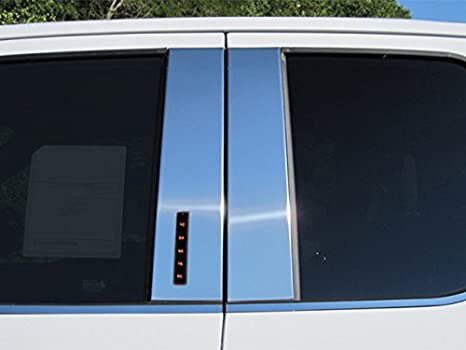QAA FITS F-150 2015-2019 Ford (4 Pc: Stainless Steel Pillar Post Trim Kit w/keyless Entry Access, Super Cab, Crew Cab) PP55309