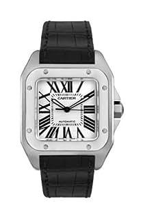 Amazon.com: Cartier Men's W20073X8 Santos 100 XL Automatic