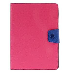 Purchase Cross Print Pattern Rose PU Full Body Case with Stand and Navy Button for iPad Air