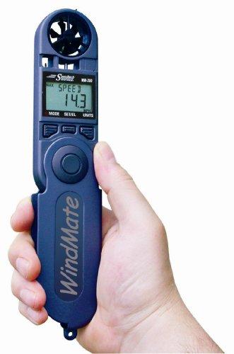 WeatherHawk WM-300 WindMate Hand-Held Weather Meter, Blue (Speedtech Wind Meter)