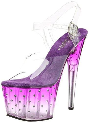 Pleaser Clr Trasparente Sandali Purple 708t Clr Stardust Donna rqfrxXSw