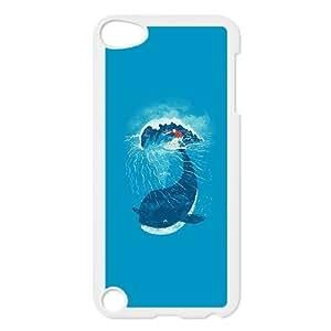 iPod Touch 5 Case White ah84 whale wave animal illust art sea Okegj