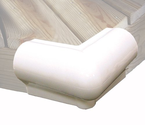 Taylor Made Products 46015 90 Degree Vinyl Dock Corner Bumper (White)