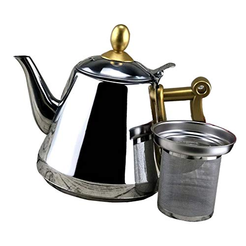 Teapots Mirror Finish - SM SunniMix Water Kettle - Teapot with Mirror Finish, Teakettle - Stove Top Tea Maker with Infuser, Teapots Strainer Included - 1.5L