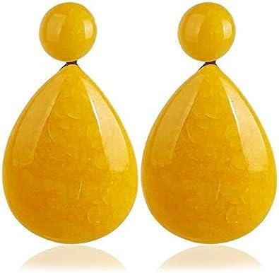Exagerada resina gota de agua pendientes de piedras preciosas pendientes moda femenina