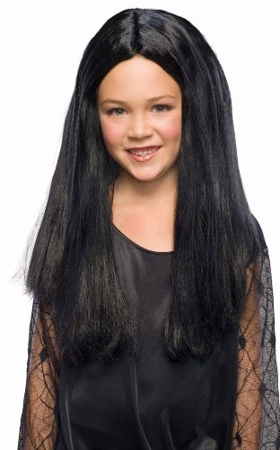 Rubies Costume Addams Family Child's Morticia Costume Wig