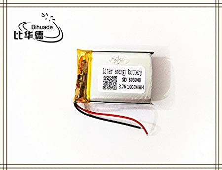 BIHUADE 3.7V 700MAH 803030 Polymer Lithium Battery for MP4 GPS MP3 Bluetooth Stereo DIY Gift
