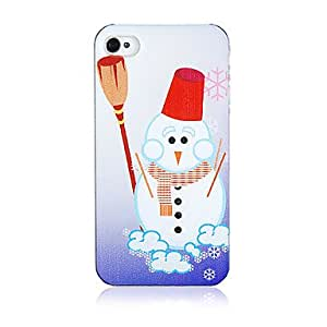 GJYChristmas Snowman Pattern Plastic Back Case iPhone 4/4S