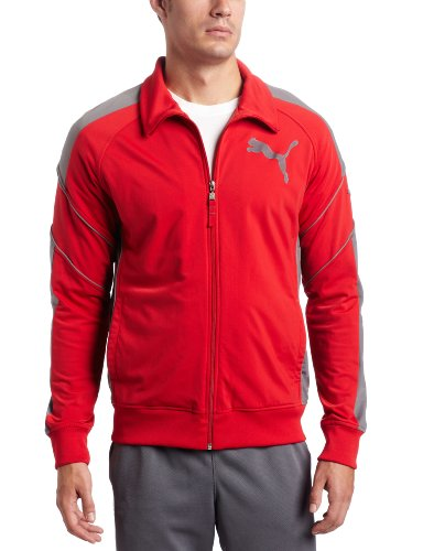 PUMA Men's Tricot Track Jacket, Ribbon Red Large