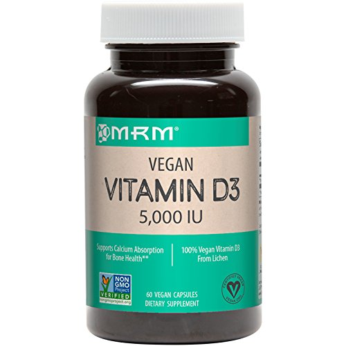 MRM - Vegan Vitamin D3, Meets Calcium and Bone Health Needs (5000IU 60 Count)