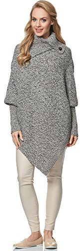 Merry Style Poncho para mujer MSSE0022 Beige Melange