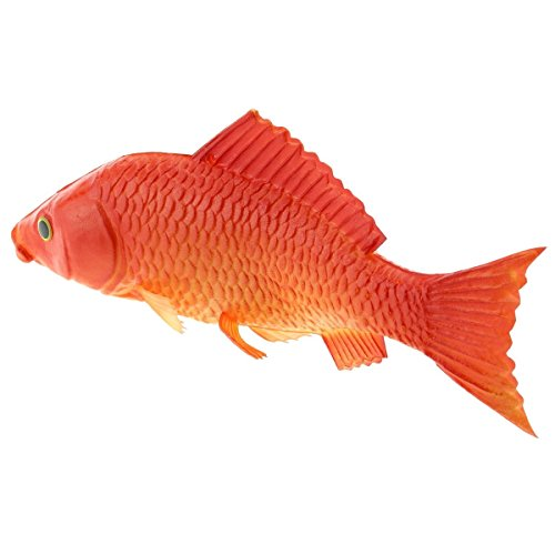 Gresorth 9.2 inch Fake Red Carp Artificial Fish Decoration for Home Party Christmas Halloween Display