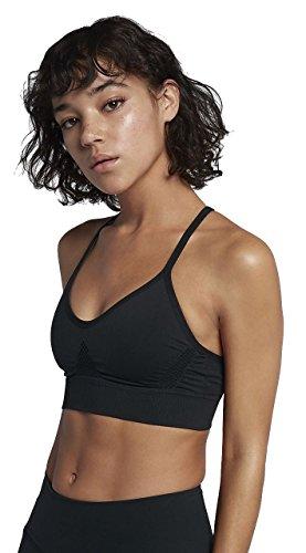 NIKE Women's Seamless Light Sports Bra (Black, S)