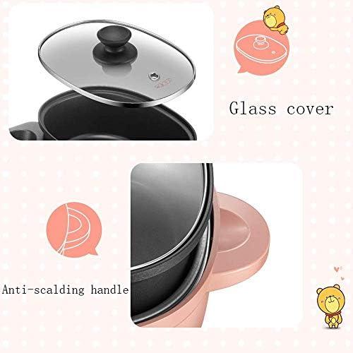 3-in-1 elektrischer Shabu-Shabu-Hot Pot für den Innenbereich mit Grill,austauschbarem Reiskocher aus Edelstahl oder Bratpfanne und Antihaft-Teppanyaki-Grill mit koreanischem Grill