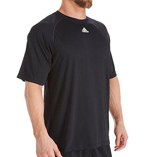 adidas Mens Climalite Short Sleeve Shirt Black Medium