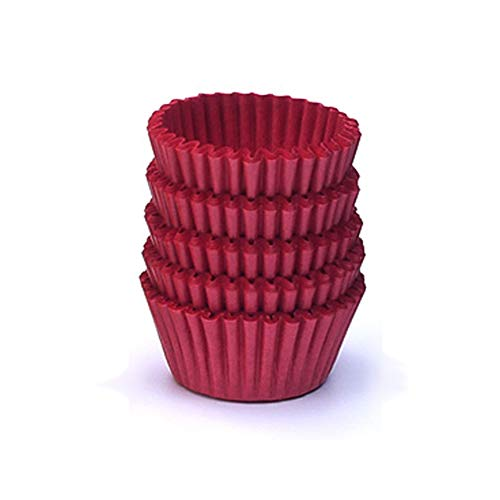 Burgundy Cupcake Wrappers (NUOMI Mini Cupcake Liners Paper Baking Cups Muffin-Liners 1000 Pieces Dessert Wrappers for Christmas Festival, Wine)