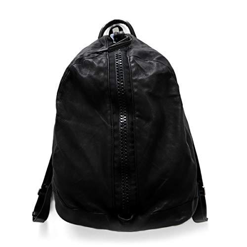 [ジョルジオブラット] フロントジップ レザーリュック BS2705V バックパック (メンズ レディース) One Size NERO(Black) B07RDMTB8W