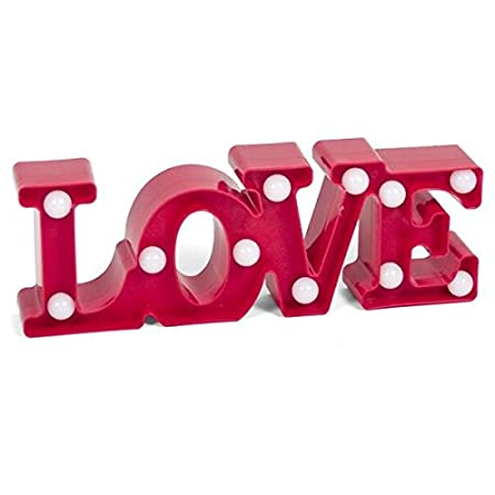 Cartel Love con 11 luces (Medidas: 31x11x5cm): Amazon.es: Hogar