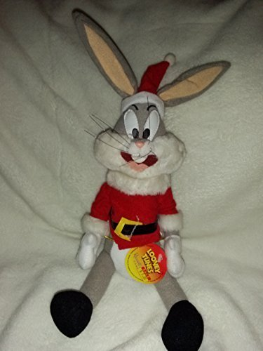 Looney Tunes Plush Bugs Bunny in Santa Outfit -