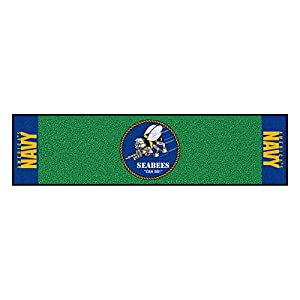 U.S. Navy - Seabees Putting Green Mat Golf Accessory from CC Sports Decor