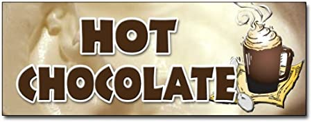 12 HOT Chocolate Decal Sticker Cocoa Flavor Maker New