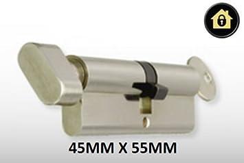 Euro Cylinder Thumb Turn 45mmx55mm Chrome Anti Pick Anti Drill High Security Upvc Door Lock Cylinder Barrel Amazon Co Uk Diy Tools