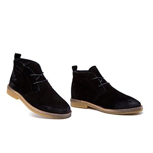 40 Leder Große Schuhe Atmungsaktive Freizeit 35 Retro Damen Größe Schnürstiefeletten Damen ZqvHvwg