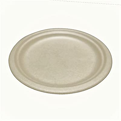 "Wheat Straw Disposable Plates 7"" - Biodegradable - Compostable - Eco-Friendly - Microwave Safe"
