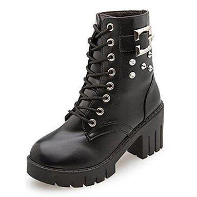 De 5 Mujer EU36 Botas UK3 Uk4 Para Negro Puntera Ue36 5 Goma RTRY Zapatos Up Lace De Combate Chunky US5 De Exterior Cn36 Redonda El Talón CN35 Otoño Botas Us6 5xq4AwqF