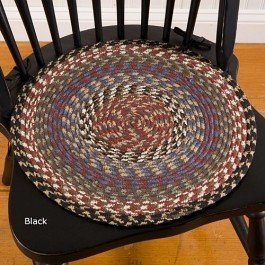 Cotton Braided Chair Pad Olive ()