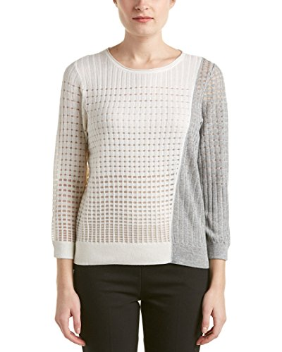 Magaschoni Womens Sweater (Magaschoni Womens Silk & Cashmere-Blend Sweater, S)