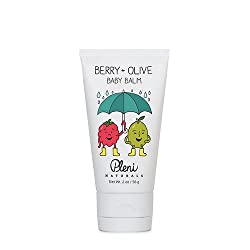 Pleni Naturals Berry + Olive Baby Balm 2oz for lips, cheeks, eczema, dry skin with Organic Olive Oil and Mango Seed Butter, Dermatologist Tested and Safe for Sensitive Skin