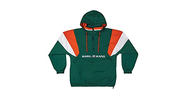 Karl Kani Men Windbreaker Retro Blocked, Größe:XL, Farbe:Green/Orange/White: Amazon.es: Ropa y accesorios