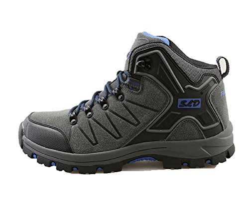 TQGOLD Men's Women's Hiking Shoes Outdoor Waterproof Mid Hiking Boots (Women Size 9/Men Size 8.5,Gray) by TQGOLD